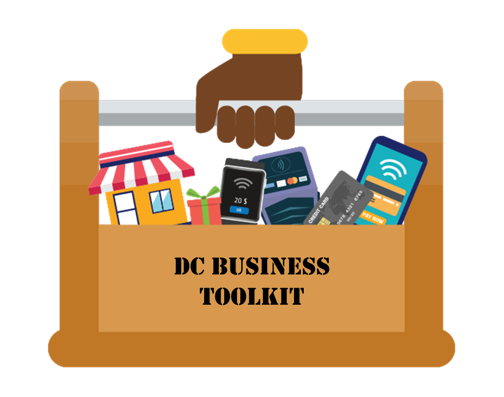 DC Business Toolkit graphic with text