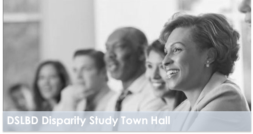 Disparity Study town hall event graphic