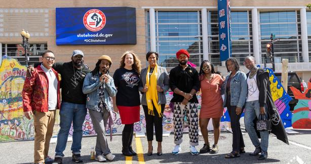Mayor Bowser joins local artists for 51st State Art All Night Reveal