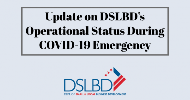DSLBD operational status update for COVID-19