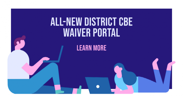 All-New District CBE Waiver Portal