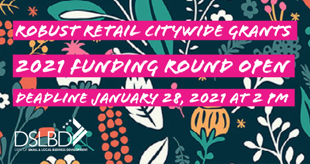 FY21 Robust Retail Citywide Grants available