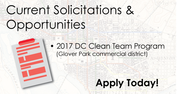 Current Solicitations & Opportunities: 2017 DC Clean Team Program
