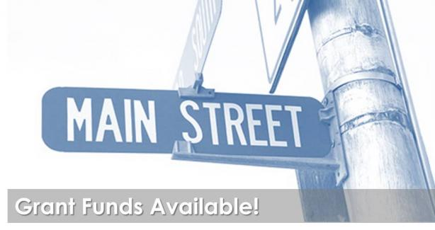 Main Street Grant Funds Available Graphic