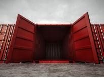 Large open shipping container