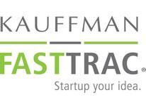 Kauffman FastTrac text logo in gray and green